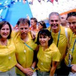 Australian Team Physiotherapists at the Closing Ceremony Athens