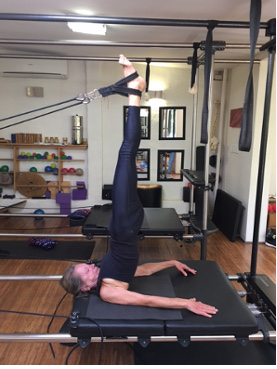 Long standing patient using the Pilates method to achieve great core strength