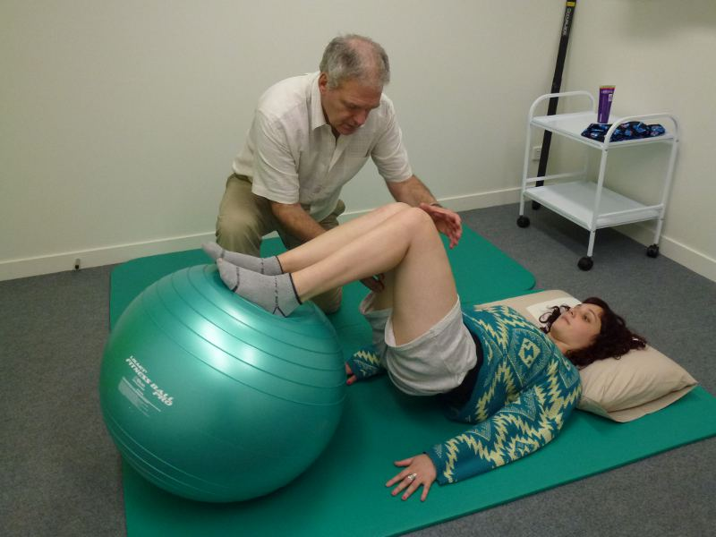 Strengthening exercises with a fitball