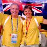 Ross Smith And Natalie Cook Closing Ceremony Athens Olympic Games