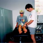 Ross Smith treats Kathy Watt Gold Medallist Road Race Barcelona